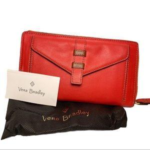 Vera Bradley leather wristlet wallet Bozeman NWT